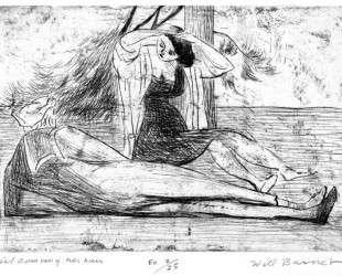 Girl Combing Her Hair — Уилл Барнет