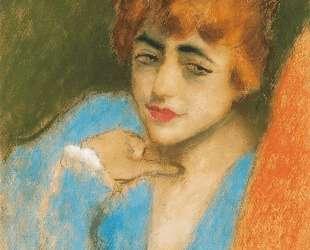 Girl Dressed up in Blue — Йожеф Рипль-Ронаи