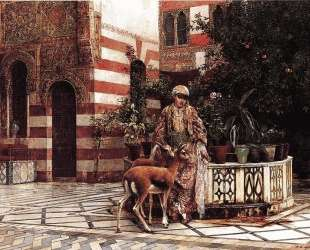 Girl in a Moorish Courtyard — Эдвин Лорд Уикс