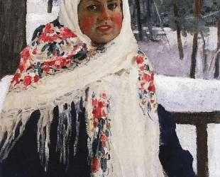 Девушка в русском платке — Игорь Грабарь