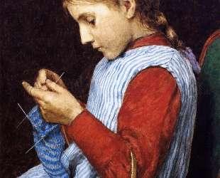 Girl Knitting — Джулиан Олден Вейр