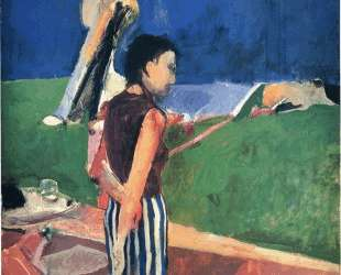 Girl on a Terrace — Ричард Дибенкорн
