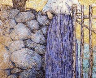 Girl Standing by a Gate — Джулиан Олден Вейр