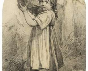 Girl with a bast basket — Виктор Васнецов