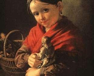 Девочка с куклой — Василий Тропинин