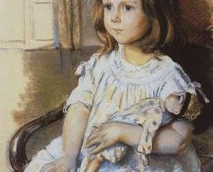 Девочка с куклой — Зинаида Серебрякова