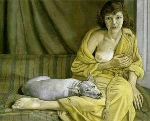 Девушка с белым псом — Люсьен Фрейд