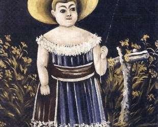 Девочка с шариком — Нико Пиросмани