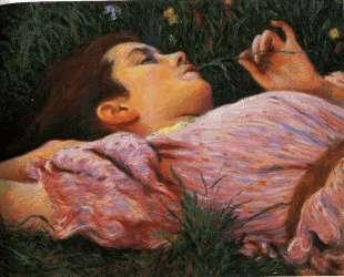 Girl with flowers — Федерико Дзандоменеги