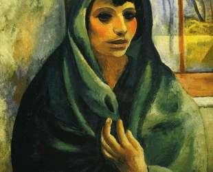 Девушка с зеленой шалью — Моис Кислинг
