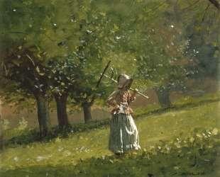 Girl with Hay Rake — Уинслоу Хомер