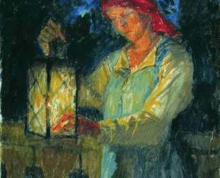 Девочка с фонарем — Николай Богданов-Бельский