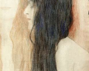 Girl with Long Hair, with a sketch for 'Nude Veritas' — Густав Климт