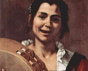Girl with Tambourine — Хосе де Рибера