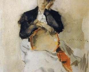 Girl with Tambourine — Уильям Меррит Чейз