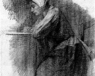 Пишущая девушка — Пит Мондриан