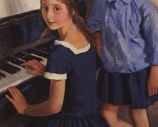 Девочки у рояля — Зинаида Серебрякова