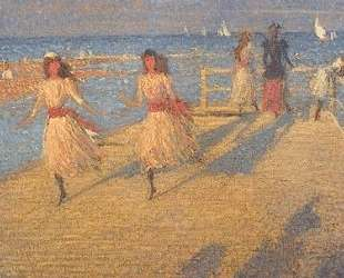 Girls Running, Walberswick Pier — Филип Уилсон Стэр