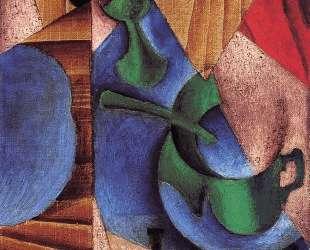 Glass, Cup and Newspaper — Хуан Грис