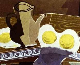 Стеклянный кувшин и лимон — Жорж Брак