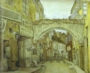Glassmakers Street in Vilno — Мстислав Добужинский
