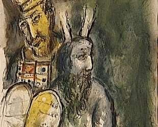 Бог повелевает Моисею сделать одежды для служения в святилище — Марк Шагал