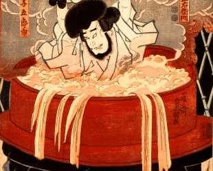 Goemon Ishikawa and his son Goroichi — Утагава Кунисада