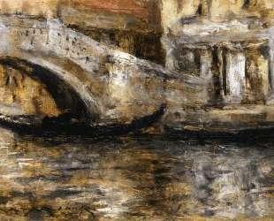 Gondolas along Venetian Canal (aka Gondola in Venice) — Уильям Меррит Чейз