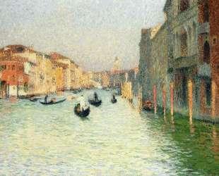 Gondolas in Venice — Анри Мартен