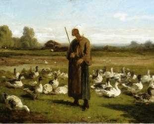 Goose Girl — Альфред Сислей