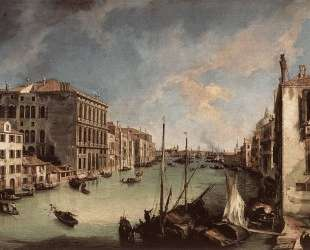 Grand Canal, Looking East from the Campo San Vio — Каналетто