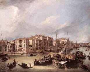 Grand Canal: Looking North East toward the Rialto Bridge — Каналетто