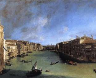 Grand Canal Looking Northeast from the Palazzo Balbi to the Rialto Bridge — Каналетто