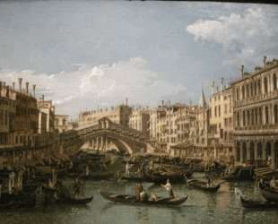 Grand canal, view from north — Бернардо Беллотто