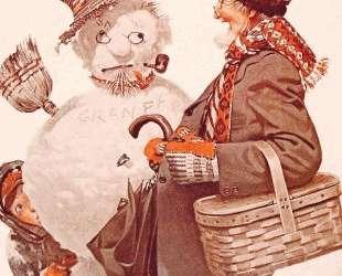 Grandfather and Snowman — Норман Роквелл