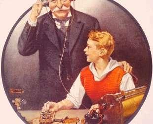 Grandpa Listening In on the Wireless — Норман Роквелл