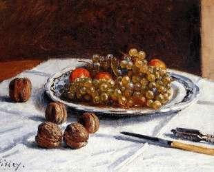 Grapes And Walnuts — Альфред Сислей