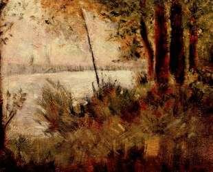 Трава на берегу реки — Жорж Сёра