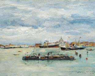 Gray Day on the Lagoon (A Passenger Boat — Venice) — Уильям Меррит Чейз