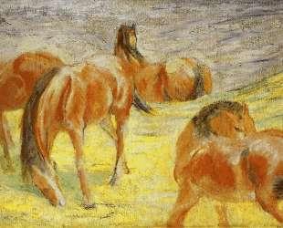 Grazing Horses — Франц Марк