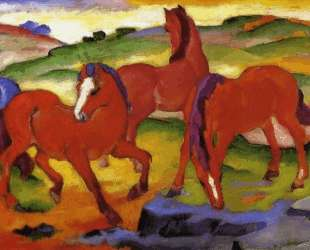 Grazing Horses IV (The Red Horses) — Франц Марк
