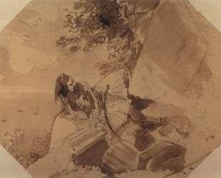 Грек, лежащий на скале — Карл Брюллов