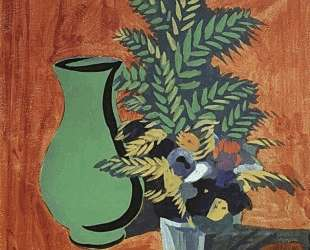 Green jug and bouquet — Мартирос Сарьян