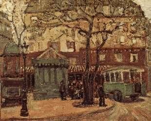 Greenish Bus in Street of Paris — Грант Вуд