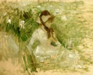 Griffon dog's head, Follette — Берта Моризо