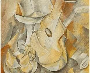 Гитара и блюдо с фруктами — Жорж Брак