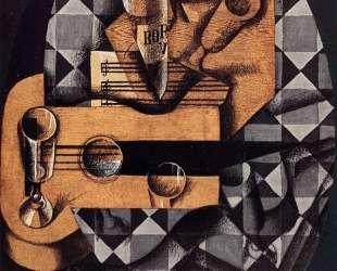Guitar, Bottle and Glass — Хуан Грис