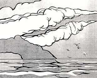 Пейзаж с чайками — Рой Лихтенштейн
