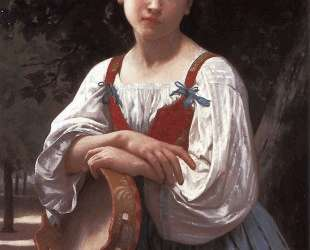 Gypsy Girl with a Basque Drum — Вильям Адольф Бугро