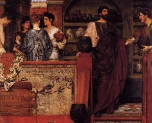 Адриан посещает римско-британскую гончарную мастерскую — Лоуренс Альма-Тадема